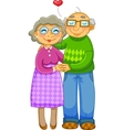 loving old couple vector image