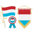 luxembourg flags vector image vector image
