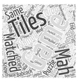 MAH JONGG Mind Puzzles Word Cloud Concept vector image vector image