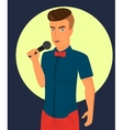 male rock singer with microphone vector image vector image