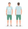 man front and back views vector image vector image
