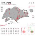 map singapore epidemic and quarantine emergency vector image