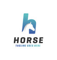 modern horse h letter logo vector image vector image