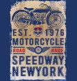 motorcycle poster skull t-shirt graphic vector image vector image