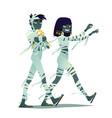 mummy couple halloween characters vector image vector image