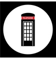 phone booth simple black isolated icon eps10 vector image vector image