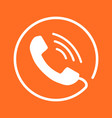 phone icon contact support service sign on vector image vector image