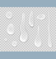 rain drops isolated on transparent background vector image