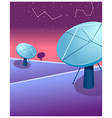 Satellite dishes astrology sign vector image vector image
