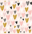 seamless childish pattern with pink hand drawn vector image