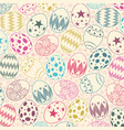 seamless pattern on colorful easter egg background vector image