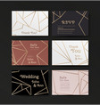 series invitation wedding in art deco style vector image vector image