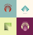 Set logos for the abstract lines The concept of vector image vector image