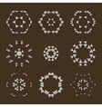 set of abstract floral and circular vector image