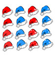 set of decorative elements for christmas and new vector image vector image