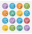 Set of sixteen different flat wi-fi and wireless vector image vector image