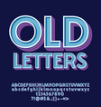set old decorative letters numbers and symbols vector image