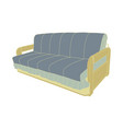sofa blue furniture couch isolated interior modern vector image vector image