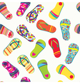 Summer flip flops seamless pattern funny vector image vector image