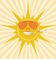 sun and cigarette vector image