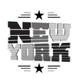 T shirt New York black gray white star vector image vector image