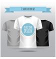 t-shirt set white grey black template vector image vector image