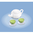 tea industry isometric composition vector image vector image