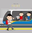 train public metro underground subway boy vector image
