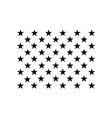 united states flag 50 stars vector image vector image