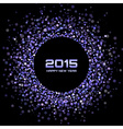 Violet Bright New Year 2015 Background vector image vector image
