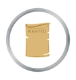 Wanted icon cartoon Singe western icon from the vector image vector image