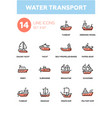 water transport - line design icons set vector image