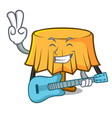 with guitar table cloth mascot cartoon vector image