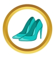 Women blue shoes icon vector image vector image