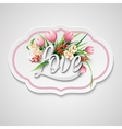Word Love with flowers vector image