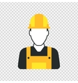 Workman with helmet person icon vector image