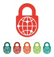 world safety web icon vector image vector image
