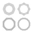Lineart geometric ornamental templates set vector image