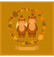 wedding amusing card with bears vector image