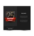 25th anniversary invitation card template vector image vector image