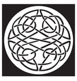 a celtic knot and pattern in a circle design vector image vector image