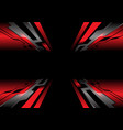 abstract red grey circuit zoom black tech vector image vector image