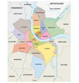 administrative map districts basel city vector image vector image