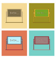 assembly flat icons school blackboard vector image vector image