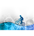 biker on the blue wave vector image
