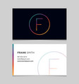 business-card-letter-f vector image vector image