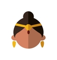 Cartoon woman icon Indian Culture design vector image vector image