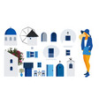 collection architectural items to build a vector image vector image