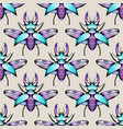 colorful seamless stag beetles pattern background vector image vector image