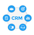 crm icons customer relationship management vector image